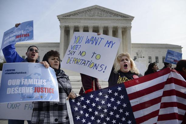 People Rally Outside The Supreme Court Over Immigration Relief Case - DC