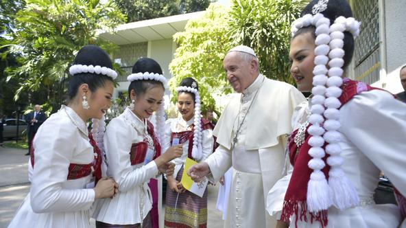 Pope Francis visits Thailand Pope Francis visits the Apostolic Nunciature in Bangkok, Thailand November 20, 2019.