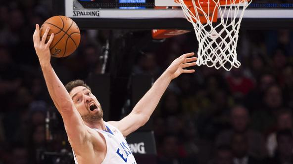 Eastern Conference's Pau Gasol, of the Chicago Bulls, eyes the ball during first half NBA All-Star Game basketball action in Toronto on Sunday, February 14, 2016. THE CANADIAN PRESS/Mark BlinchMARK BLINCH Photo: Press Association/PIXSELL