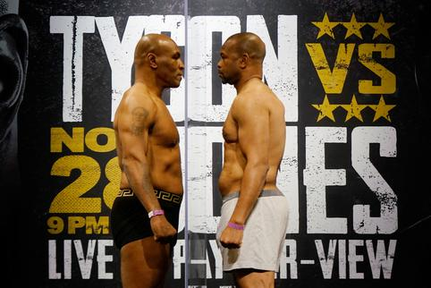 Boxing: Tyson vs Roy Jones Jr-Weigh Ins