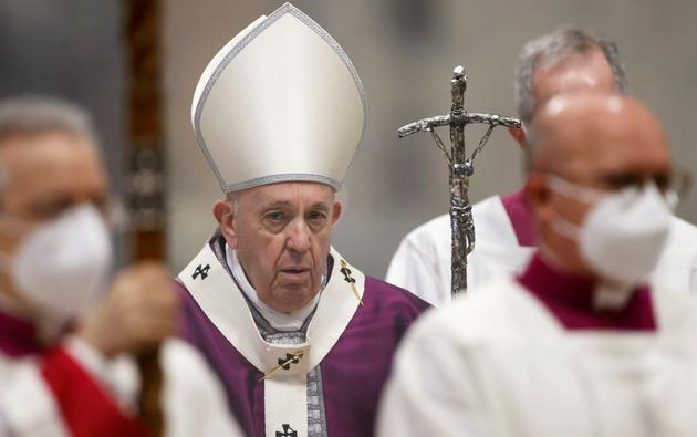 FILE PHOTO: Ash Wednesday mass in St. Peter's Basilica at the Vatican