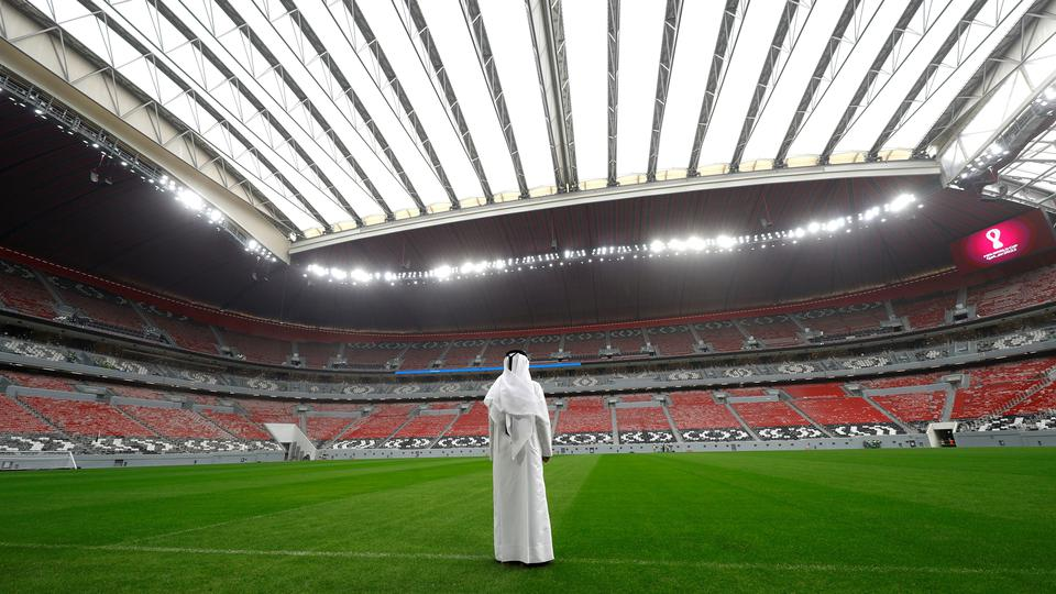 FILE PHOTO: A general view shows the Al Bayt stadium, built for the upcoming 2022 FIFA World Cup soccer championship, during a stadium tour in Al Khor
