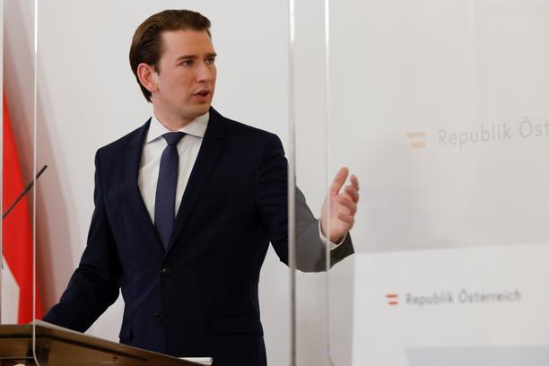 Austrian government addresses the media in Vienna