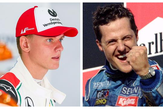 Mick i Michael Schumacher
