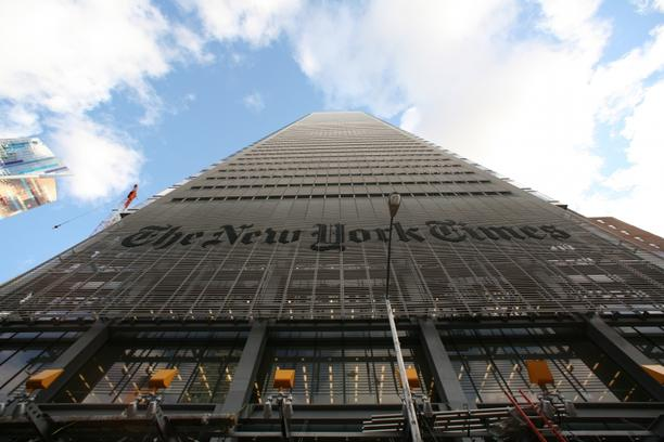 \'The NY Times building at 620 Eighth Avenue.  Exterior of the new New York Times headquarters in Manhattan.  CREDIT: Fred R. Conrad/The New York Times\'