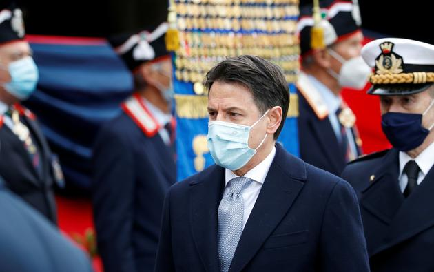 Italian PM Conte attends the ceremony marking the rotation of the Carabinieri General Commander, in Rome
