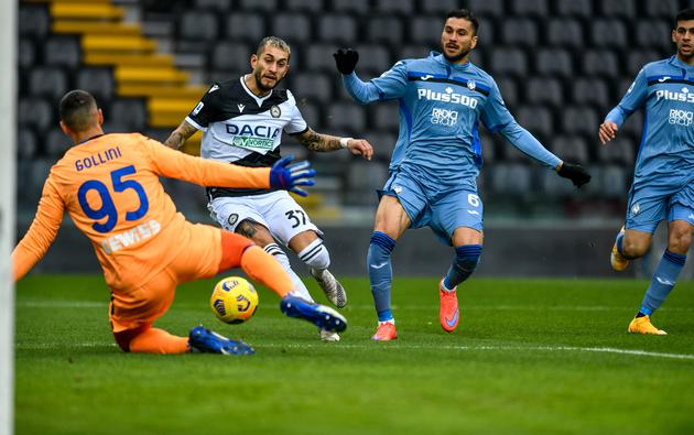 Italian football Serie A match - Udinese Calcio vs Atalanta BC