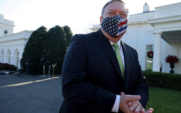 FILE PHOTO: U.S. Secretary of State Pompeo visits the White House on an apparent family tour in Washington