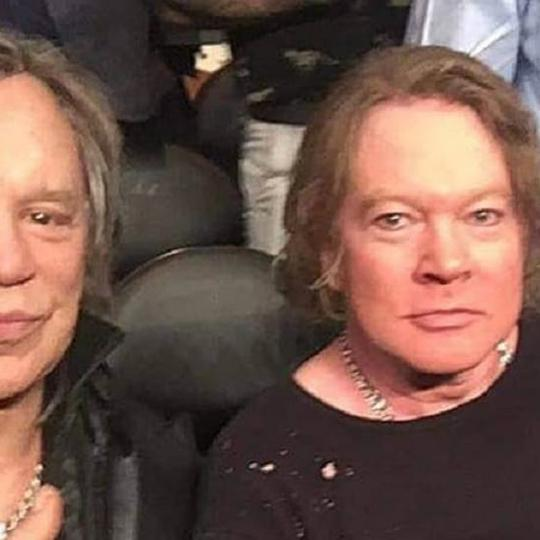 Mickey Rourke i Axl Rose