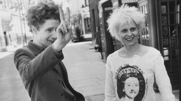 Malcolm McLaren, manager of the Sex Pistols and girlfriend Vivienne Westwood leaving court Credit: The Sun Photo: NI Syndication/PIXSELLPhoto: NI Syndication/PIXSELL