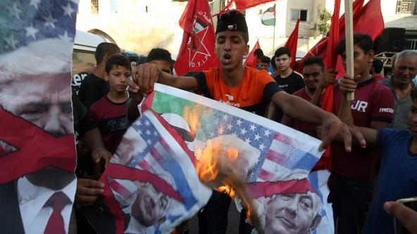 Palestinians Protest Against a US-brokered Deal Between Israel and the UAE