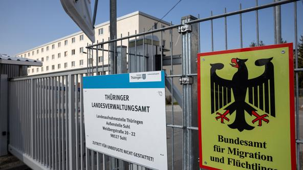 Initial reception facility for refugees Suhl