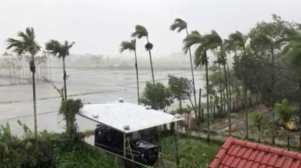 General view as Typhoon Molave sweeps through Hoi An
