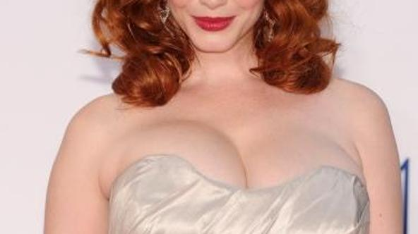 'Christina Hendricks arrives for the 64th annual Prime Time Emmy Awards at the Nokia Theatre at LA Live in Los Angeles, California September 23, 2012.  AFP PHOTO / ROBYN BECK'