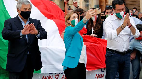 Protest against the government of Prime Minister Giuseppe Conte in Rome