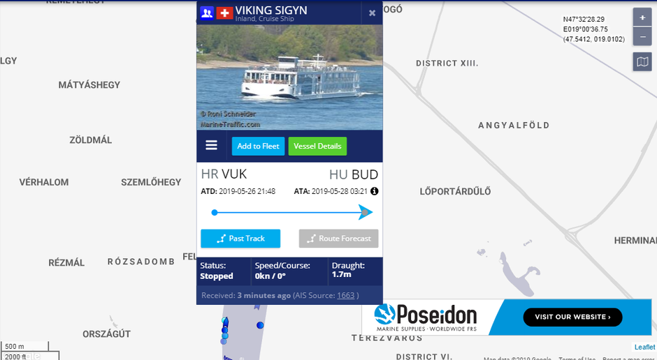 | Autor : Screenshot/Marinetraffic