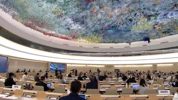 SWITZERLAND-GENEVA-UN-HUMAN RIGHTS COUNCIL-RESOLUTION-RACISM