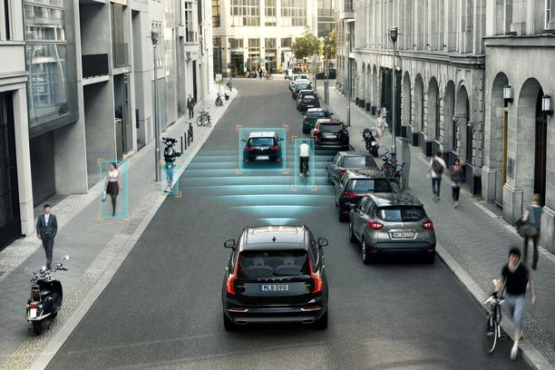 City Safety features Pedestrian and Cyclist detection with full auto brake, day and night.