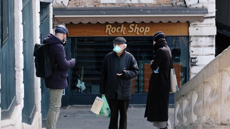 Daily life in the city during the spread of coronavirus disease (COVID-19) in Venice