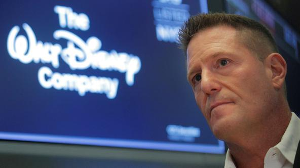 FILE PHOTO: Kevin Mayer, Disney's head of direct-to-consumer division, on the floor at the NYSE in New York