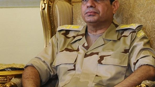 'Egypt\'s Defense Minister Abdel Fattah al-Sisi is seen during a news conference in Cairo on the release of seven members of the Egyptian security forces kidnapped by Islamist militants in Sinai, in t