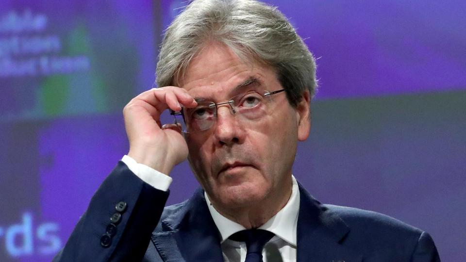 EU Economy Commissioner Paolo Gentiloni gives a news conference on the 2020 Eurostat report on progress towards the Sustainable Development Goals in the EU, in Brussels