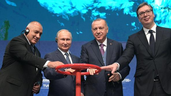 Launching ceremony for TurkStream gas pipeline in Istanbul