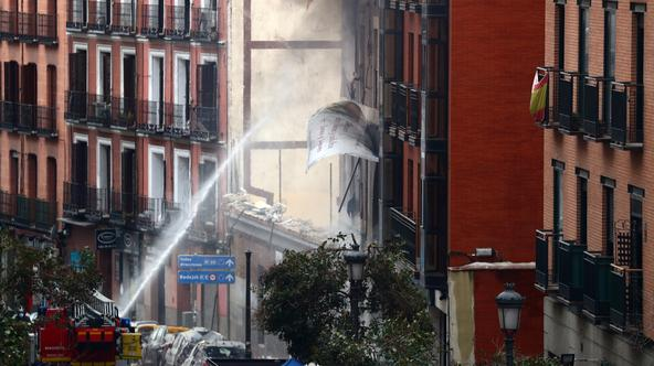 Explosion in Madrid downtown