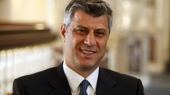 \'Kosovo\'s Prime Minister Hashim Thaci speaks during an interview with Reuters in Istanbul May 21, 2010. Thaci  welcomed NATO plans to reduce troop levels by two-thirds this year as a sign of confide