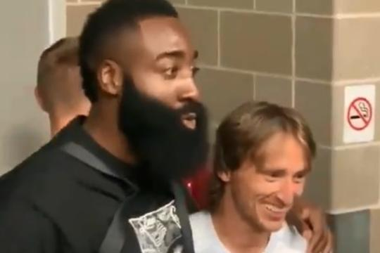 James Harden i Luka Modrić