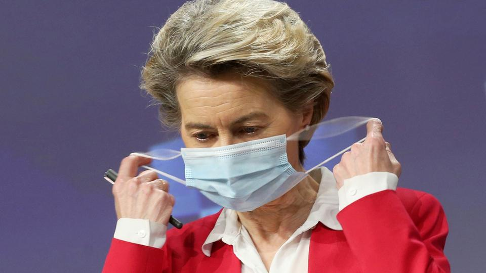 European Commission President Von Der Leyen holds a news conference on vaccine strategy in Brussels