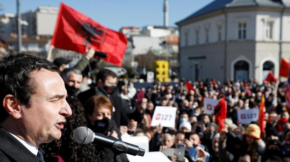Final campaign rally of Vetevendosje party in Pristina