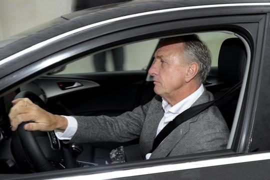 'Johan Cruyff, board member of Ajax football team, drives to attend a Council meeting of the football club, in Amsterdam on November 20, 2011. Louis van Gaal will return to Ajax as general manager in