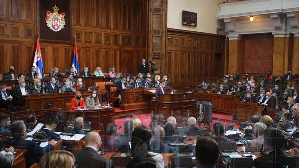 A plenary session on the election of the Government of Serbia is being held in the House of the National assembly. 