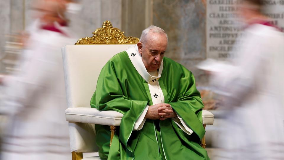 Pope celebrates a Mass marking the Roman Catholic Church's World Day of the Poor