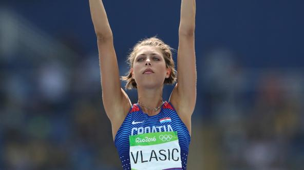 Blanka Vlasic of Croatia in action during the Women's High Jump Qualifying of the Olympic Games 2016 Athletic, Track and Field events at Olympic Stadium during the Rio 2016 Olympic Games in Rio de Janeiro, Brazil, 18 August 2016. Photo: Michael Kappeler/d