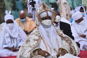 Emir of Kano during Eid Fitr prayer - Nigeria