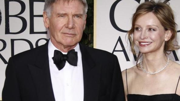 'US actors Harrison Ford and Calista Flockhart attend the 69th Annual Golden Globe Awards presented by the Hollywood Foreign Press Association in Hotel Beverly Hilton in Los Angeles, USA, on 15 Januar