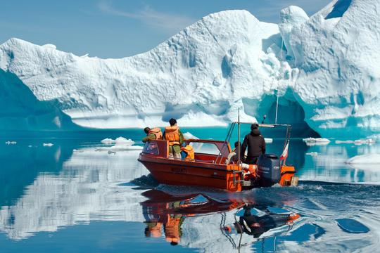 Icebergs in East Greenland Current
