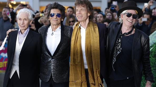 Members of the Rolling Stones (L-R) Charlie Watts, Ronnie Wood, Mick Jagger and Keith Richards arrive for the