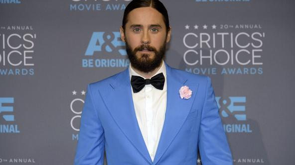 Actor Jared Leto poses backstage during the 20th Annual Critics' Choice Movie Awards in Los Angeles, California January 15, 2015.  REUTERS/Kevork Djansezian  (UNITED STATES - Tags: ENTERTAINMENT)(CRITICSCHOICE-BACKSTAGE)