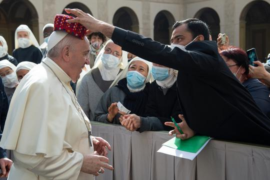 Pope Francis during the weekly general audience