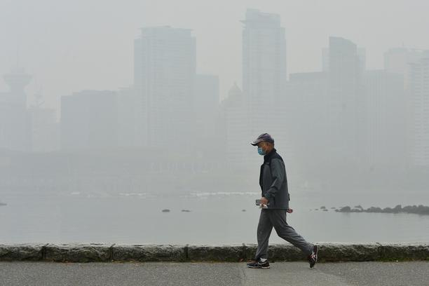 Smoke from wildfires in neighbouring Washington state shrouds Vancouver