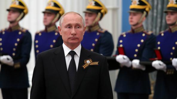 Russia's President Putin attends an awarding ceremony in Moscow
