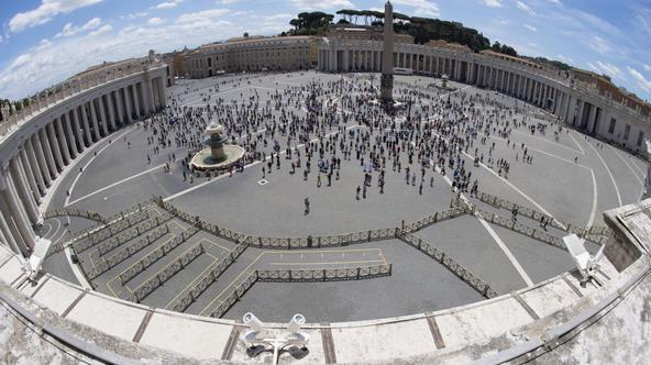 June 7, 2020 : Pope Francis leaves at the end of the Angelus noon prayer, in St. Peter's Square, at the Vatican.