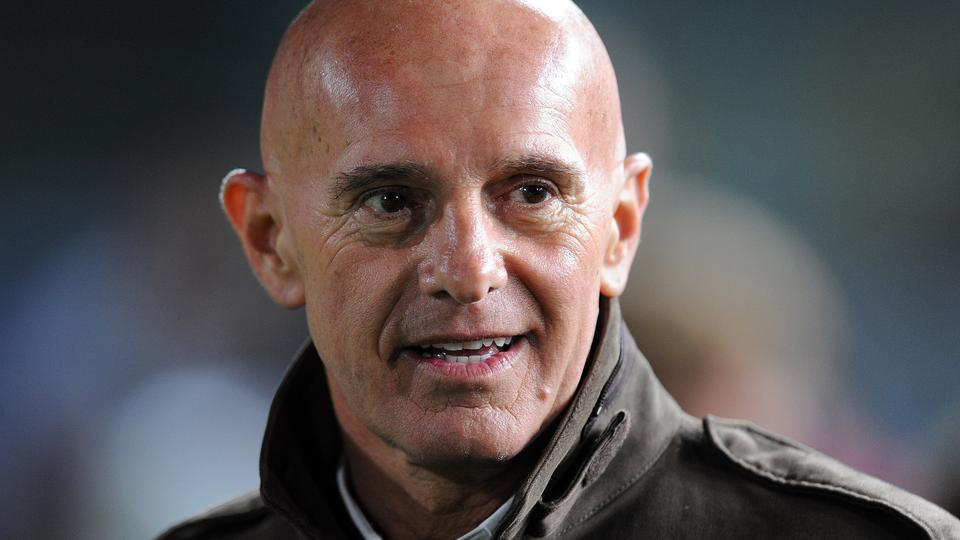 BRESCIA, ITALY - APRIL 03:  Arrigo Sacchi attends the charity football match between Milan Glorie and Brescia Glorie at the Rigamonti stadium on April 03, 2009 in Brescia, Italy. The event is in support of the charity organization Fondazione Stefano Borgo