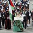 Flag bearer of Palestine Ahmad Maher leads the team into the Opening Ceremony of the 17th Asian Games in Incheon September 19, 2014.   REUTERS/Issei Kato (SOUTH KOREA  - Tags: SPORT ENTERTAINMENT)