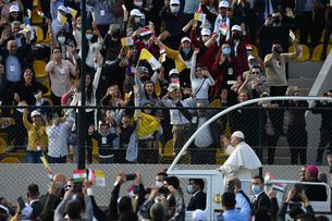 Pope Francis holds mass at Franso Hariri stadium - Erbil