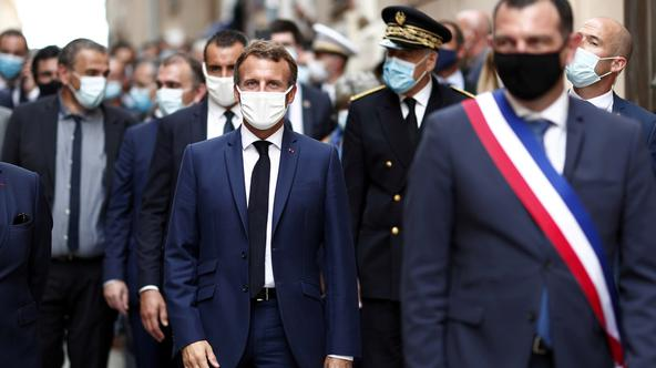 FILE PHOTO: French President Macron visits Corsica