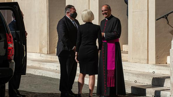 October 1, 2020 : Meeting in Vatican between the Secretary of State of the United States of America and the Vatican Secretary of State, at teh Vatican.